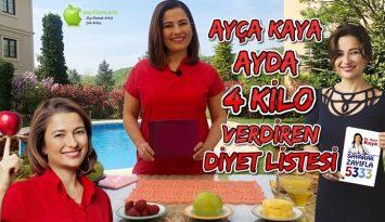 Ayda 4 Kilo Verdiren Diyet | Ayça Kaya Listesi