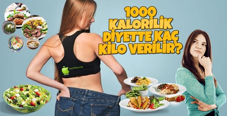 1000 Kalorilik Diyetle Kaç Kilo Verilir?