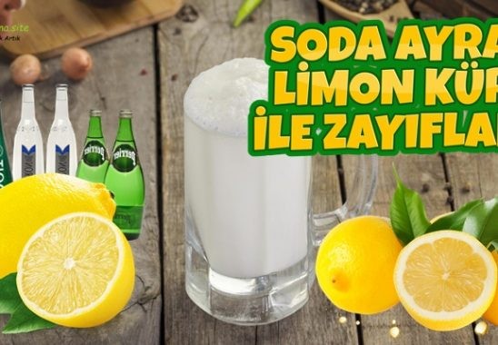 Soda Ayran Limon Kürü ile Zayıflama Göbek Eritme