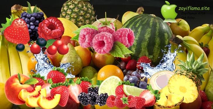 Hızlı kilo verdiren meyveler