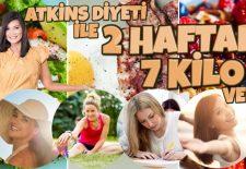 Atkins Diyeti İle 2 Haftada 7 Kilo Verme